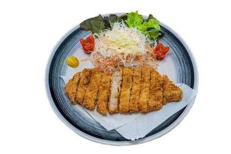 Tonkatsu Pork Japanese Food Style on White Background