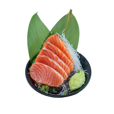 A Famous Japanese Menu is Salmon Sashimi. They use Fresh and Raw Fish to Serve Customers. This Cuisine Will More Enjoyable When Eating with Wasabi, Soy Sauce, and Pickled Ginger. Many Omega 3 dish.