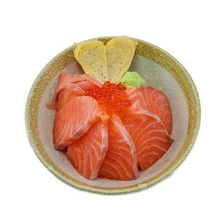 Japanese Food : Salmon Ikura Don