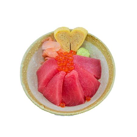 Japanese Food : Akami Don Stock Photo