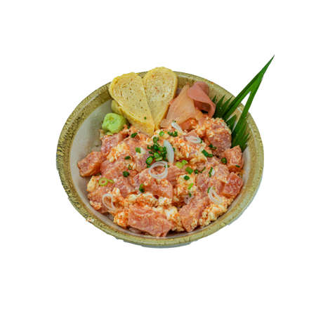 Japanese Food : Salmon Lava Don Stock Photo