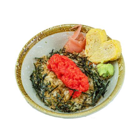 Japanese Food : Mentaiko Don Stock Photo