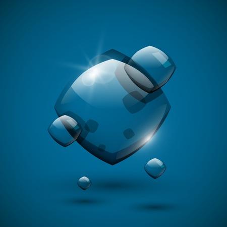 Glossy glass speech bubble. Vector art. Illustration