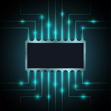 Vector-chip op het moederbord Vector Illustratie