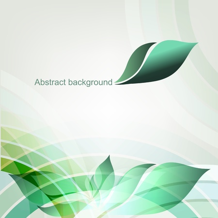Abstract spring geometric background with place for text  Part of set