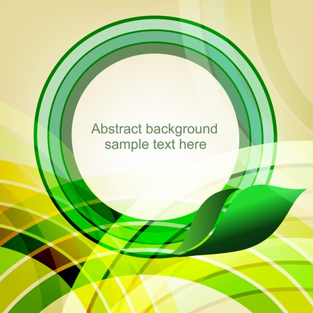 Abstract spring geometric background with place for text  Part of set  Vector