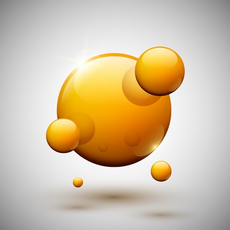 Vector glossy drops speech bubble  Illustration