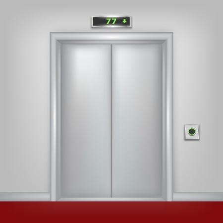 ベクトルの密室セットの一部の 3 d のエレベーター