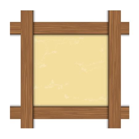 marco madera: Aislada de madera de madera para ilustración vectorial Foto