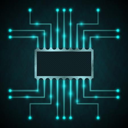 circuitboard: Chip di Vector sulla scheda madre