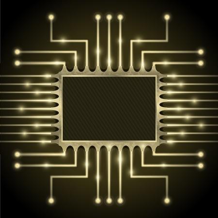 マザーボード上のチップのベクトル  イラスト・ベクター素材
