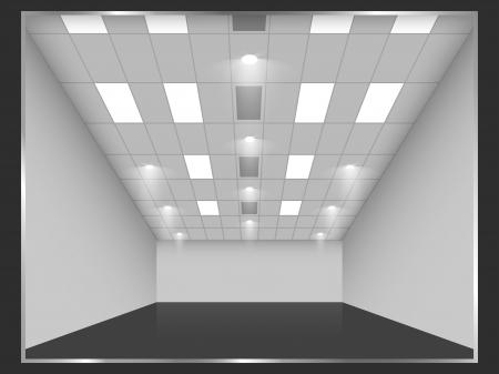 Vector empty shop interior, front view  Part of set