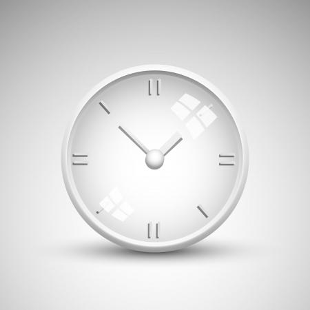 office clock: Blanco Vector ilustraciones de reloj de oficina Vectores