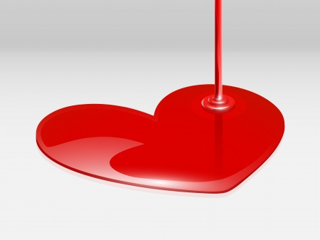 Vector isolated paint red heart