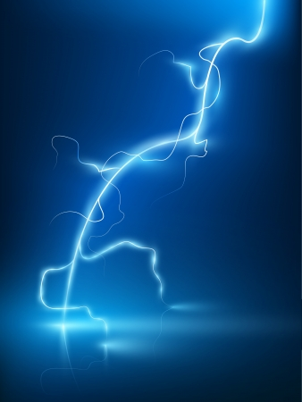 volts: Vector abstract blue lightning flash background