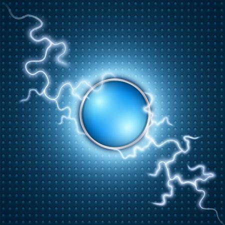 lading: Vector abstracte blauwe bliksemschicht achtergrond Stock Illustratie