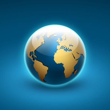 世界のベクトル地球儀アイコン