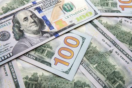 Money background of one new hundred dollars