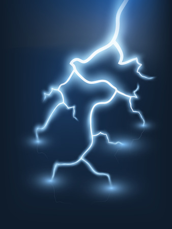 Vector abstract blue lightning flash background