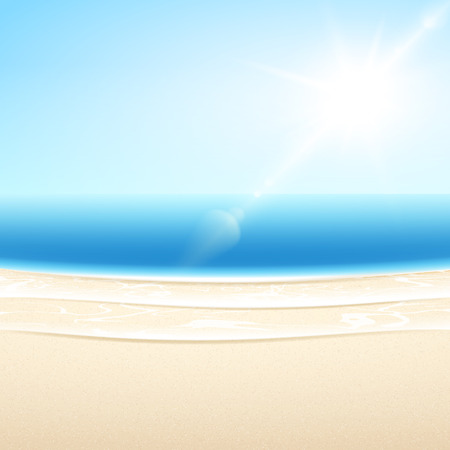 Vector sandy sea beach  Summer relax set  Vector