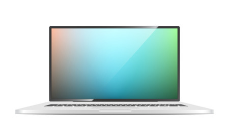 Vector Laptop isolated on white background  Vector