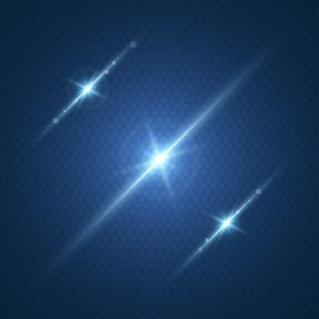 ベクトル受けてフォームでレンズ効果で輝く光の設定します。