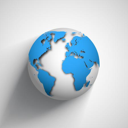 globe icon of the world. Illustration