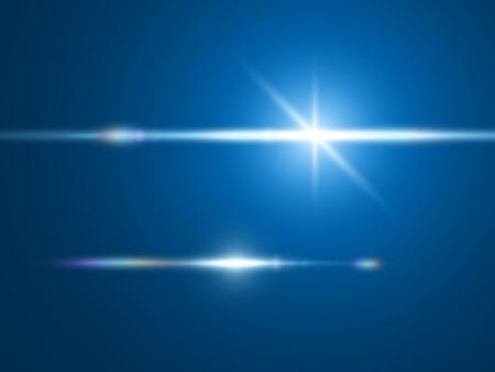 レンズ エフェクトの要素光を設定します。