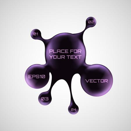 Vector bubble speech ink 3d style.