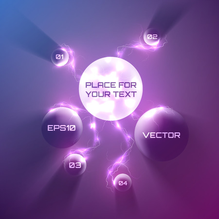 Vector bubble speech with many lightning 3d style. Vector