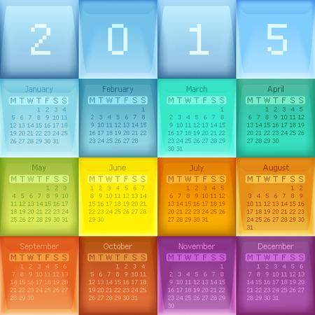 Vector illustration calendar for new year. Illustration
