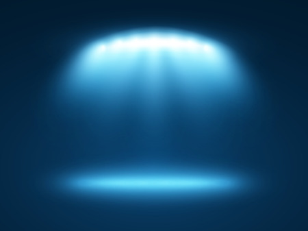 Abstract light effects blue background with a few spotlights 일러스트