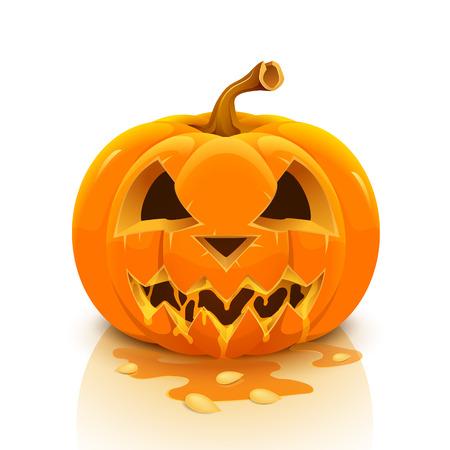 Halloween pumpkin isolated on white background. illustration. Illustration