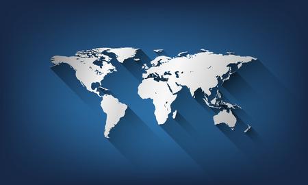 世界の世界地図。  イラスト・ベクター素材