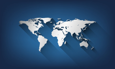 globe map of the world.