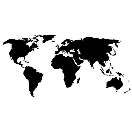 World map vector. World icon vector
