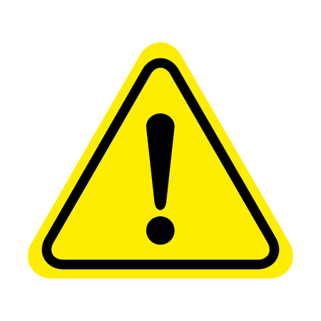 Exclamation danger sign. attention sign icon. Hazard warning attention sign