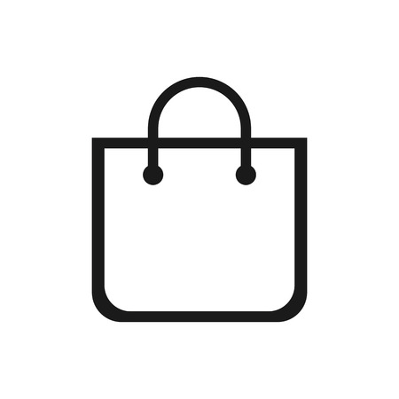 Shopping bag icon. Shopping bag vector icon 일러스트