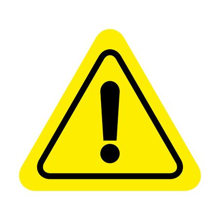 Segnale di pericolo esclamativo. icona del segno di attenzione. Segnale di avvertimento di pericolo Vettoriali