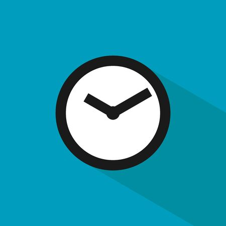 Clock icon. Time icon vector. Clock icon in trendy flat style isolated on background