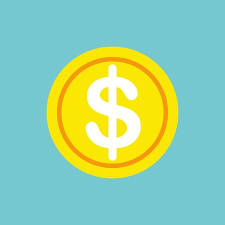 Dollar icon. Money icon. Money cash in trendy flat style isolated on white background.Dollar icon. Money icon. Money cash in trendy flat style isolated on white background. Stock Illustratie