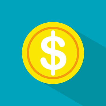 Dollar icon. Money icon. Money cash in trendy flat style isolated on white background.