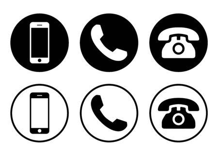 Vecteur d'icône de téléphone. Appeler le vecteur d'icône. gadget de téléphone portable pour smartphone. icône de téléphone