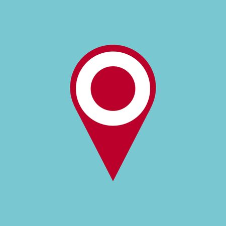 Pin icon vector. Location icon. Map pointer icon