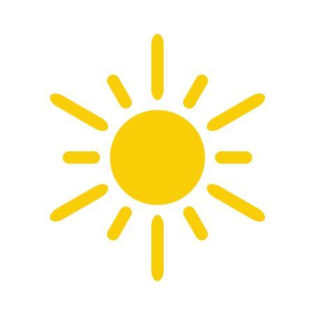 Icône du soleil. Icône de vecteur de soleil