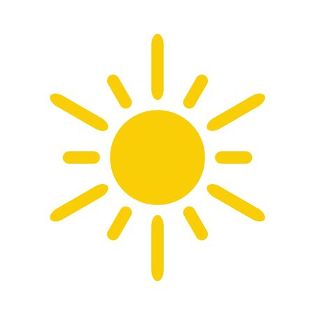 Sonne-Symbol. Sonne-Vektor-Symbol