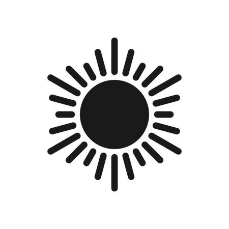 Sun icon. Sun vector icon