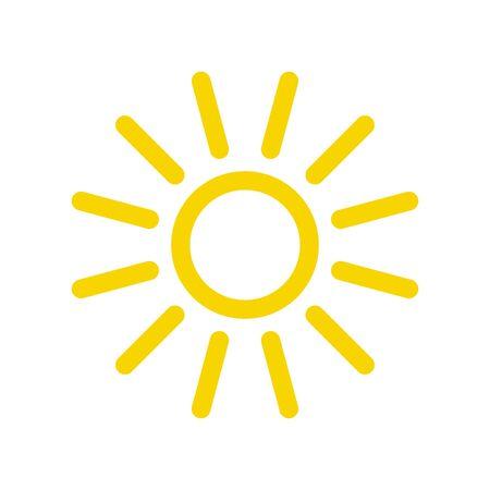 Zon pictogram. Zon vector icoon Vector Illustratie