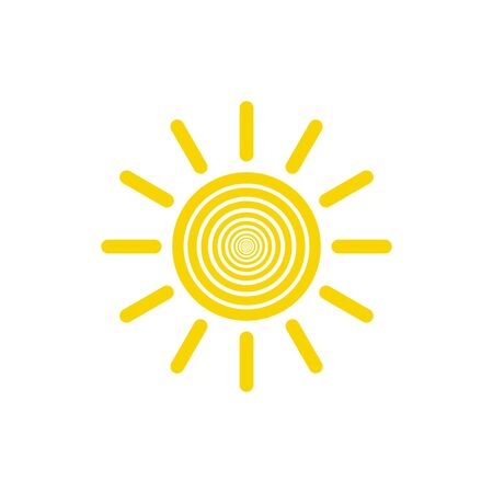 Sun vector icon. Sun line vector icon Stock Illustratie