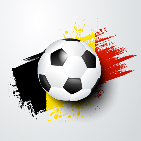 A football world or European championship with ball and Belgium flag colors. Illustration